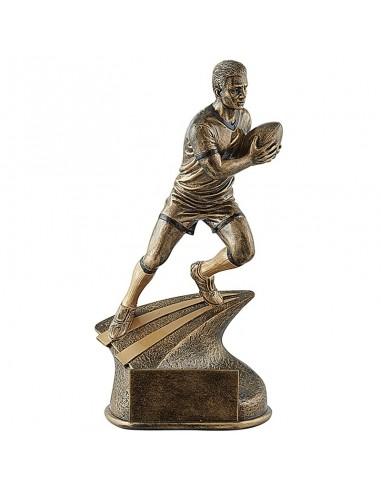 Trophée résine Joueur de Rugby 3D hauteur 34 cm