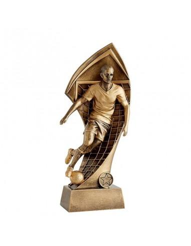 Trophée résine joueur foot 3D hauteur 21cm