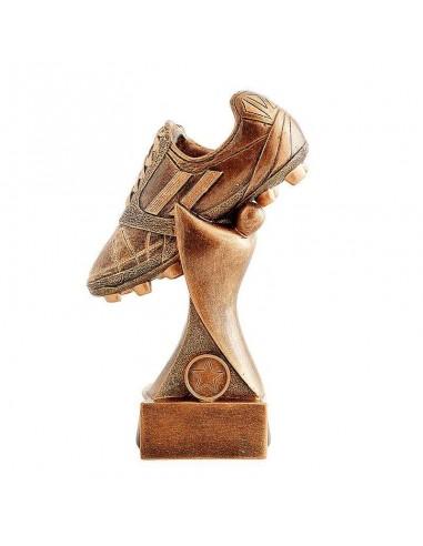 Trophée résine chaussure foot hauteur 25cm