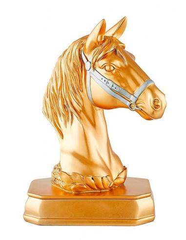 Trophée résine tête de cheval 3D hauteur 28cm