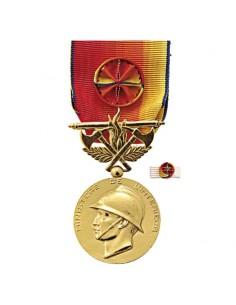 Médaille Or Pompiers Services Exceptionnel (SEV)